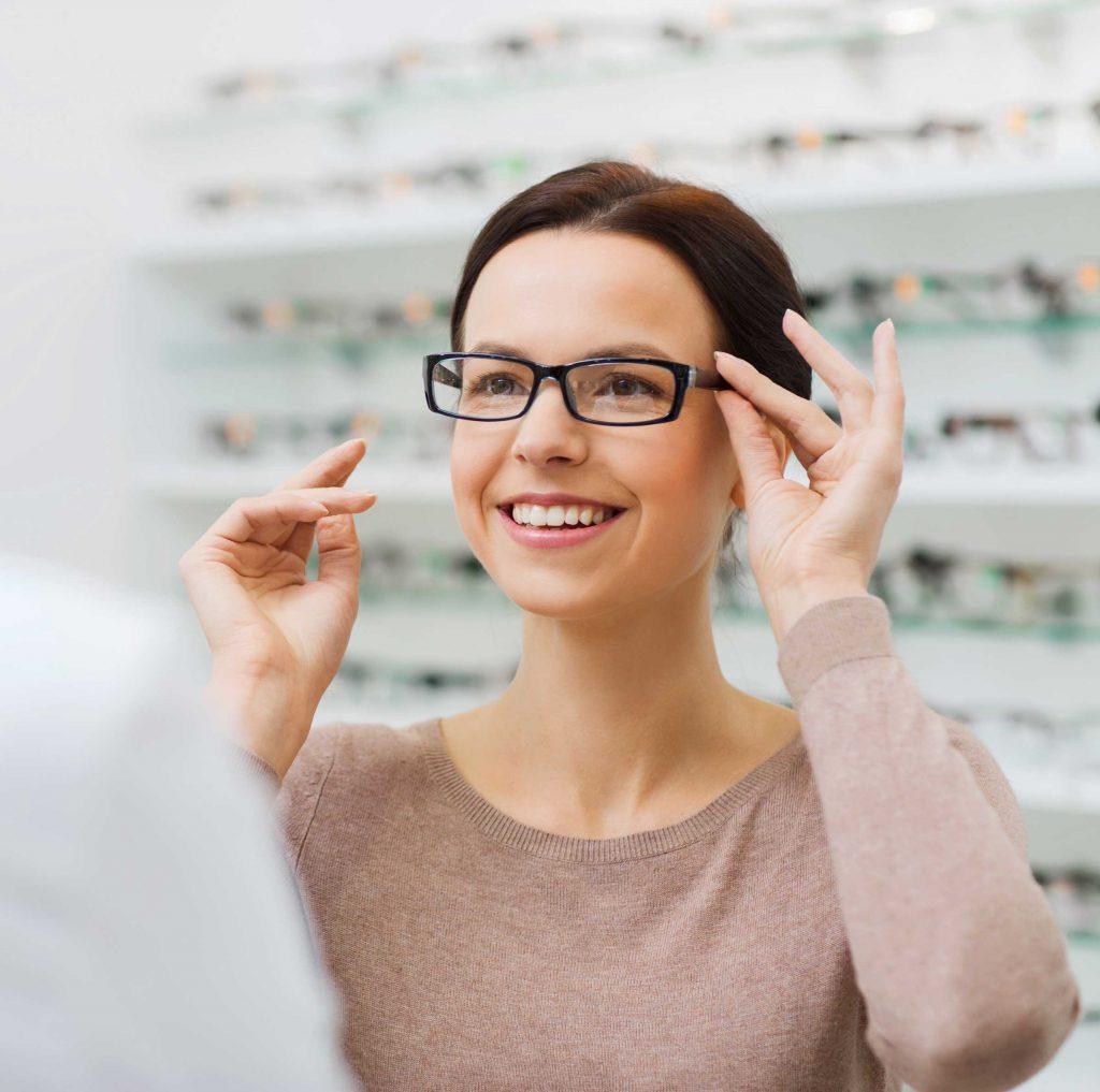 client particulier chez un opticien
