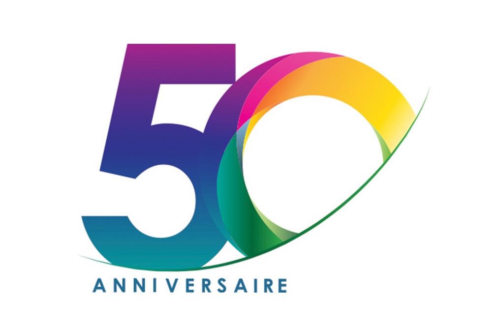 Logo du 50eme anniversaire de Lapeyre Groupe