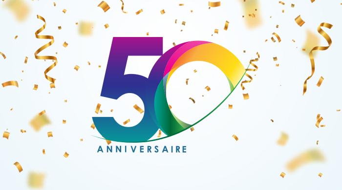 logo des 50 ans de Lapeyre Groupe